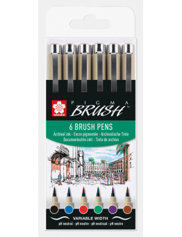 PIGMA BRUSH BASIC SET 6