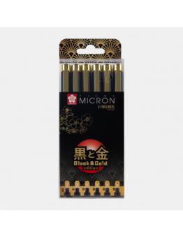 PIGMA MICRON BLACK&GOLD SET 6