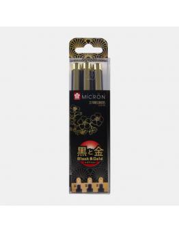 PIGMA MICRON BLACK&GOLD SET 3