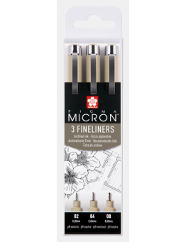 PIGMA MICRON BLACK SET 3