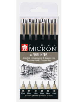 PIGMA MICRON BLACK SET 6