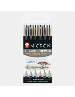 PIGMA MICRON 05 EARTH SET 6