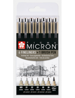 PIGMA MICRON BLACK SET 6+1