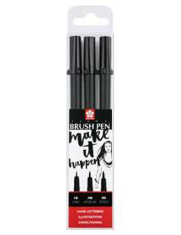 PIGMA BRUSH BLACK SET 3